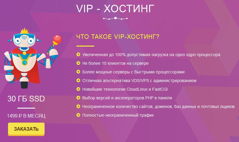 Цены на VIP хостинг